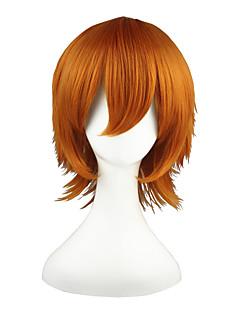 billiga Anime/Cosplay-peruker-Cosplay Peruker Shirobako Roxas Orange Animé Cosplay-peruker 14 tum Värmebeständigt Fiber Herr Dam halloween Peruker