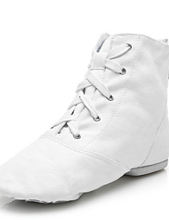 cheap -Women's Jazz Shoes Canvas Boots Lace-up Customized Heel Customizable Dance Shoes White / Black / Red / Performance