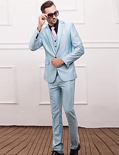 billige Herremote og klær-Bomull Akryl Polyester Normal drakter Ensfarget Arbeid Fritid/hverdag Herre