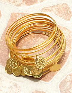 ダンスアクセサリー ジュエリー 女性用 演出 金属 ゴールドコイン 10個 ブレスレット