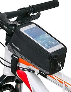 זול תיקי אופניים-ROSWHEEL תיקים למסגרת האופניים טלפון נייד תיק 4.8 אינץ ' עמיד למים רוכסן עמיד למים לביש עמיד לזעזועים מסך מגע רכיבת אופניים ל Iphone 8 /