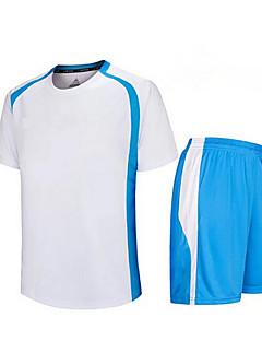 baratos Futebol camisas e Shorts-Homens Futebol Shorts shirt + Conjuntos de Roupas/Ternos Respirável Secagem Rápida Primavera Verão Outono Inverno Clássico Terylene