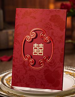 preiswerte Antwortkarten-Dreifach gefaltet Hochzeits-Einladungen Einladungskarten Einladungskarten für die Verlobungsfeier Künsterlischer Stil Hartkartonpapier