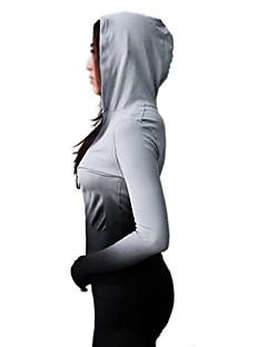 בגדי ריקוד נשים טישרט לריצה שרוול ארוך ייבוש מהיר נושם סווטשירט צמרות ל יוגה כושר גופני ספורט פנאי ריצה LYCRA® שחור ורוד יאן כחול סקיי S M