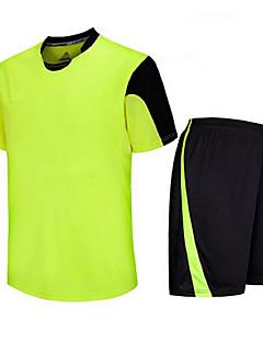 preiswerte -Herrn Fußball Hemd + Kurzschlüsse Kleidungs-Sets Unten Rasche Trocknung Atmungsaktiv Frühling Sommer Winter Herbst Klassisch Terylen