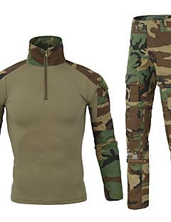 baratos Roupas de Caça-Camiseta Camuflada de Caçador Homens Mulheres Unisexo Secagem Rápida Vestível Respirável Resistente ao Choque camuflagem Esportes