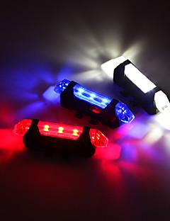 Χαμηλού Κόστους -Πίσω φως ποδηλάτου / φώτα ασφαλείας / πισω φαναρια LED Ποδηλασία Με Μπαταρία, Ρυθμιζόμενο, Εύκολη εγκατάσταση Επαναφορτιζόμενη Μπαταρία 80 lm Ενσωματωμένη μπαταρία Li-Battery Ποδηλασία