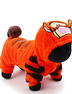 Cat Dog Costume Jumpsuit Dog Clothes Cute Cosplay Holiday Cartoon Orange Costume For Pets