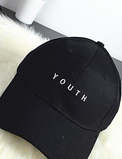 billige Trendy hatter-Dame Fritid Baseballcaps Ensfarget Bomull