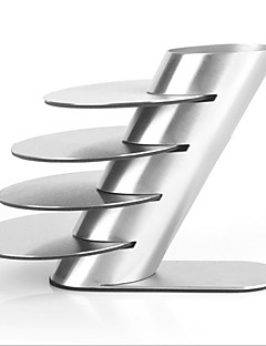 preiswerte Tassendeckel-Edelstahl-Metall-coaster Schalenbecher Pads Geschirr Pad Platzdeckchen Tasse Schüssel Getränke Untersetzer 4pcs / lot