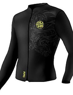 SLINX Dame Herre Unisex 5mm Våtdrakter Vårdrakt - jakke Komprimering Neopren Dykkerdrakt Dykkerdrakter-Dykking