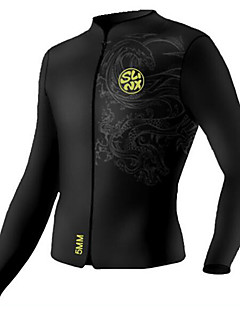 SLINX 女性用 男性用 男女兼用 5mm ウェットスーツ タッパー/ウェットジャケット ビデオ圧縮 ネオプレン 潜水服 ダイビングスーツ-潜水