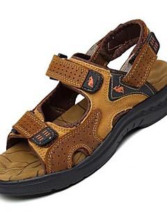 hesapli -Erkek Ayakkabı Nappa Leather Bahar Yaz Rahat Atletik Günlük Ofis ve Kariyer Dış mekan Elbise için Oyuklu Kahverengi