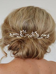נשים פנינה קריסטל כיסוי ראש-חתונה אירוע מיוחד סיכת שיער Stick השיער 2 חלקים