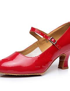 baratos -Mulheres Sapatos de Dança Moderna Glitter / Sintético / Couro Envernizado Sandália / Salto / Têni Gliter com Brilho / Presilha / Fru-Fru