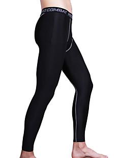 זול -בגדי ריקוד גברים טייץ לריצה / טייץ למכון כושר - שחור, אפור, שחור / ירוק ספורט טייץ רכיבה על אופניים לבוש אקטיבי דחיסה, חומרים קלים