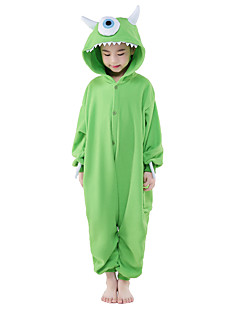 billige Kigurumi-Kigurumi-pysjamas Monster Ettøyet Monster Onesie-pysjamas Kostume Polar Fleece Cosplay Til Barn Pysjamas med dyremotiv Tegnefilm Halloween