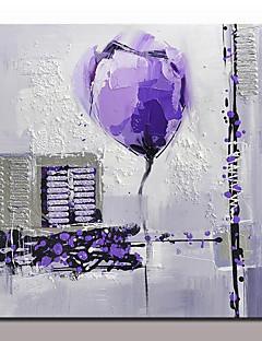 baratos Paisagens Abstratas-Pintura a Óleo Pintados à mão - Abstrato / Paisagens Abstratas Modern Com Moldura