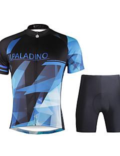 halpa -ILPALADINO Pyöräily jersey ja shortsit Miesten Lyhyt hiha Pyörä VaatesetitNopea kuivuminen Ultraviolettisäteilyn kestävä Hengittävä