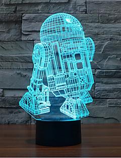 baratos Luzes de presente-robô toque escurecendo luz led 3d levou 7colorful decoração atmosfera lâmpada novidade iluminação luz