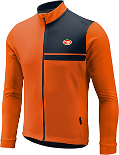 Sports Bike/Cycling Tops Men's Long Sleeve  / Front Zipper / Wearable / Ultra Light Fabric / Warm LYCRA® / Terylene