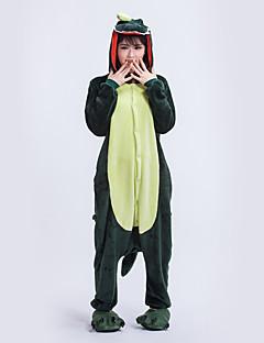 billige Kigurumi-Kigurumi Pyjamas Trikot/Heldraktskostymer Festival/høytid Pysjamas med dyremotiv Halloween Mørkegrønn Geometrisk Kigurumi Til Unisex