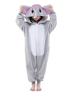 Kigurumi Pyjamas Elefantti Kokopuku Yöpuvut Asu Polar Fleece Harmaa Cosplay varten Lapset Animal Sleepwear Sarjakuva Halloween Festivaali