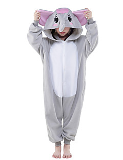 billige julen Kostymer-Kigurumi-pysjamas Elefant Onesie-pysjamas Kostume Polar Fleece Grå Cosplay Til Barne Pysjamas med dyremotiv Tegnefilm Halloween Festival