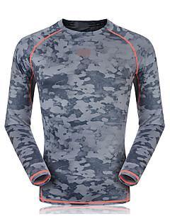 billiga Träning-, jogging- och yogakläder-Unisex Rund hals T-shirt för jogging - Himmelsblå, Röd, Ljusblå sporter Collegetröja / Överdelar Fitness, Gym, Träna Långärmad Sportkläder Snabb tork, Andningsfunktion, Kompression Elastisk