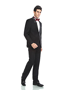 cheap Tuxedos-Tuxedos Tailored Fit Peak Single Breasted Two-buttons Wool Blend Polyester/Rayon(T/R) Viscose Solid