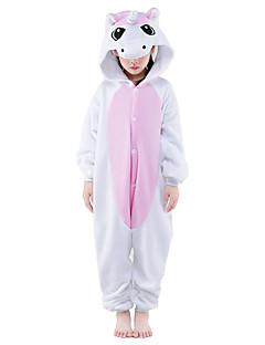 Kigurumi Pyjamas Unicorn Kokopuku Yöpuvut Asu Polar Fleece Vaaleanpunainen Cosplay varten Lapset Animal Sleepwear Sarjakuva Halloween