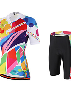 cheap Cycling Jersey & Shorts / Pants Sets-Miloto Women's Short Sleeves Cycling Jersey with Shorts - Pink Bike Shorts Bib Tights Jersey, Quick Dry, Breathable, Sweat-wicking,