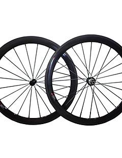 cheap Tires, Tubes & Wheelsets-700CC Wheelsets Cycling 23mm Road Bike Full Carbon Carbon Alloy Clincher 16-32 Spokes 50mm