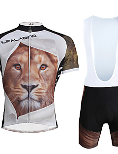 cheap Cycling Clothing-ILPALADINO Cycling Jersey with Bib Shorts Men's Unisex Short Sleeves Bike Clothing Suits Bike Wear Quick Dry Ultraviolet Resistant