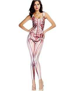 billige Voksenkostymer-Skjelett / Kranium Cosplay Kostumer Party-kostyme Dame Jul Halloween Karneval De dødes dag Oktoberfest Nytt År Festival / høytid