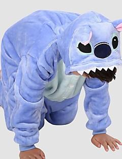 KIGURUMI Yöpuvut Trikoot/Kokopuku Festivaali/loma Animal Sleepwear Halloween Patchwork Polar Fleece Kigurumi varten LapsetHalloween Joulu