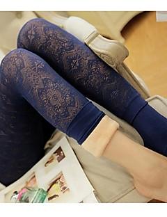 Damen Polyester Fleece-Futter Legging,Einheitsgröße passend für S bis M, bitte beachten Sie die untenstehende Größentabelle.