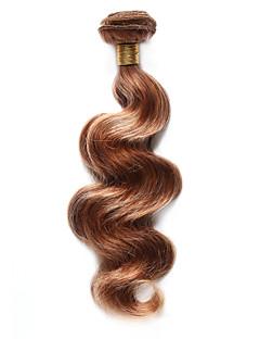 Păr Natural Păr Indian Precolored Țesăturile de par Stil Ondulat Extensii de par 1 Bucată Căpșuni Blonde / Medium Auburn
