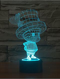 tanie Światła prezentów-dziecko dotyk ściemnianie 3d led night light 7 kolorowa dekoracja atmosfera lampa nowość oświetlenie światło
