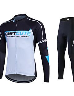 Fastcute Calça com Camisa para Ciclismo Homens Mulheres Unisexo Manga Longa Moto Meia-calça Calças Moletom Camisa/Roupas Para Esporte