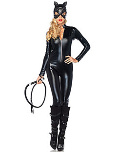cheap Sexy Uniforms-Bunny Girl Uniforms Zentai Suits Cosplay Costume Women's Halloween Carnival Festival / Holiday Halloween Costumes Black Solid