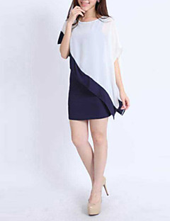 Women's Asymmetrical Casual/Daily Dress Short Sleeve White Summer