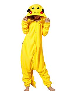 Kigurumi Pyjamas Pika Pika Heldragtskostumer Pyjamas Kostume Polarfleece Gul Cosplay Til Voksne Nattøj Med Dyr Tegneserie Halloween