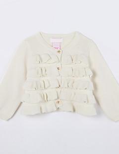 女の子の カジュアル/普段着 ゼブラプリント コットン,セーター&カーデガン 秋 ホワイト