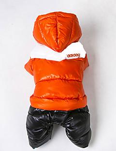 billiga Hundkläder-Katt Hund Kappor Outfits Huvtröjor Hundkläder Färgblock Orange Ros Röd Grön Blå Cotton Kostym För husdjur Herr Dam Vindtät Håller värmen
