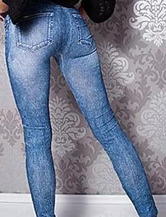 tanie Getry-Damskie Bawełna Jednolity kolor / Jeans Legging - Jendolity kolor