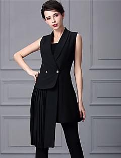 Baoyan® Damen Peter Pan-Kragen Ärmellos Über dem Knie Kleid-888067