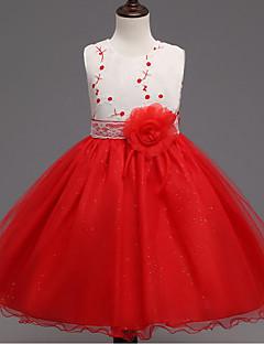 שמלה כותנה פוליאסטר קיץ אביב סתיו ללא שרוולים ליציאה אחיד הילדה של