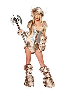 billige Sexy Uniformer-Soldat / Kriger Cosplay Kostumer / Party-kostyme Dame Halloween Festival / høytid Halloween-kostymer kaffe Leopard