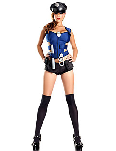 Politie carrière Kostuums Cosplay Kostuums Feestkostuum Dames Vrouwelijk Halloween Carnaval Festival/Feestdagen Halloweenkostuums blauw